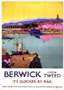 Berwick upon Tweed, Northumberland. LNER Vintage Travel Poster by Frank Henry Mason